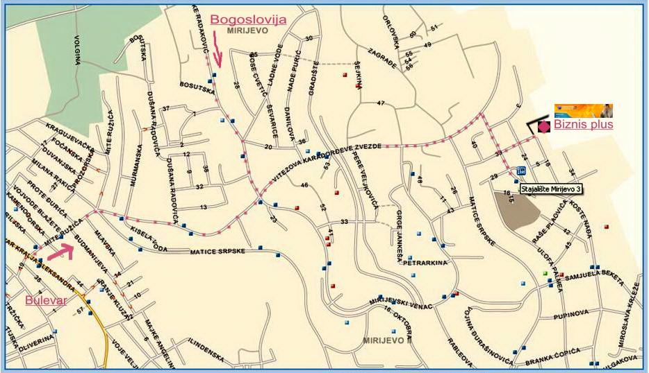 Beograd Mirijevo Mapa Superjoden
